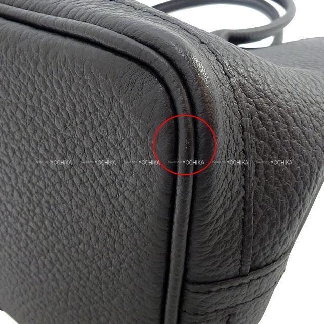 HERMES エルメス ハンドバッグ ガーデンパーティ 30 TPM 黒(ブラック) ヴァッシュカントリー 新品同様【中古】