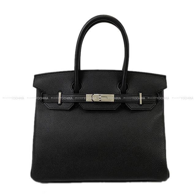 HERMES エルメス ハンドバッグ バーキン30 黒(ブラック) トゴ シルバー金具 新品