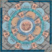 """HERMES エルメス スカーフ カレ90 """"オムニバスゲーム・リミックス"""" ベージュ"""