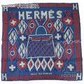 """HERMES エルメス スカーフ カレ70 """"ケリーアンペルル"""" ブルージーンXコーラルX白 新品未使用"""