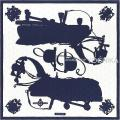 """2017年春夏 新作 HERMES エルメス スカーフ カレ90 タトゥアージュ """"宮廷の馬具"""" マリンX白 シルク100% 新品"""