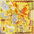 """HERMES エルメス スカーフ カレ90 """"おしゃべりな鳥たちの家"""" ピスタチオXジョーヌヴィフXキャラメルXクリーム"""