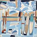"""HERMES エルメス スカーフ カレ90 """"Sea, Surf and Fun"""" アントラシットXマリンXブルージーン"""