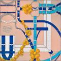 """2018年秋冬 新作 エルメス カレ90 """"三幕一場、森の空き地にて"""" ルージュXヴェールXモーヴ 新品"""