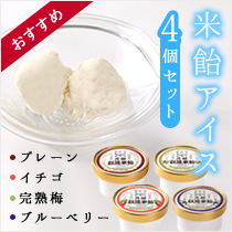米餅アイス4個セット