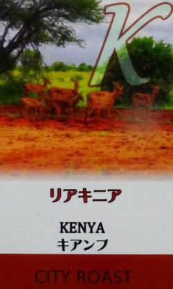 『リアキニア』 ケニア キアンブ (シティロースト=中煎り)200g コーヒー豆