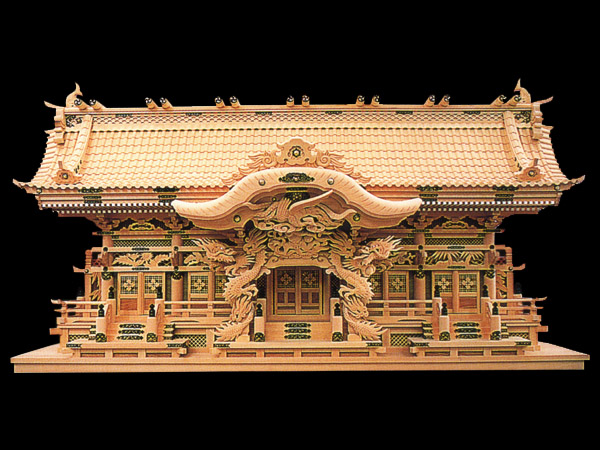 高級神棚切妻五社オリジナル高級神殿【海龍】五社