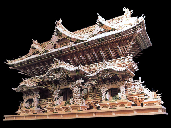 超高級神棚入母屋七社オリジナル高級神殿【極宝殿】