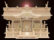送料無料・純国産・よりおかオリジナル高級切妻神棚【天空】三社