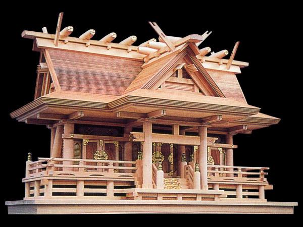 高級神棚入母屋三社オリジナル高級神殿【母屋神明】三社