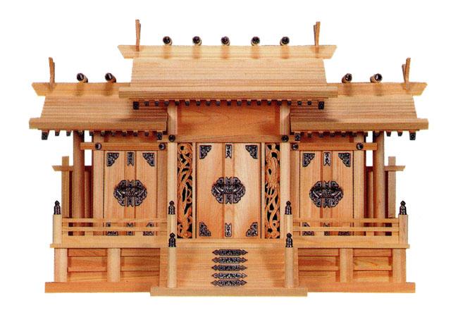 鳳凰三社シルバー金具(ひのき)