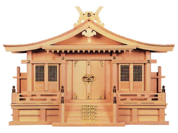 切妻三社(木曽ひのき)