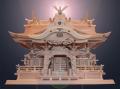 送料無料・純国産・切妻とは一味違う高級神棚入母屋三社・よりおかオリジナル高級神殿【白龍】