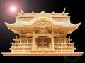 送料無料・純国産・切妻とは一味違う高級神棚入母屋三社・よりおかオリジナル高級神殿【入母屋】