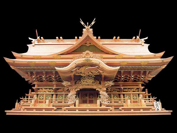 超高級神棚入母屋五社オリジナル高級神殿【天龍門】