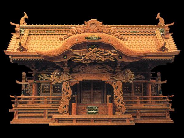 超高級久屋久杉神棚三社オリジナル高級屋久杉神殿【屋久獅子】上級仕上げ