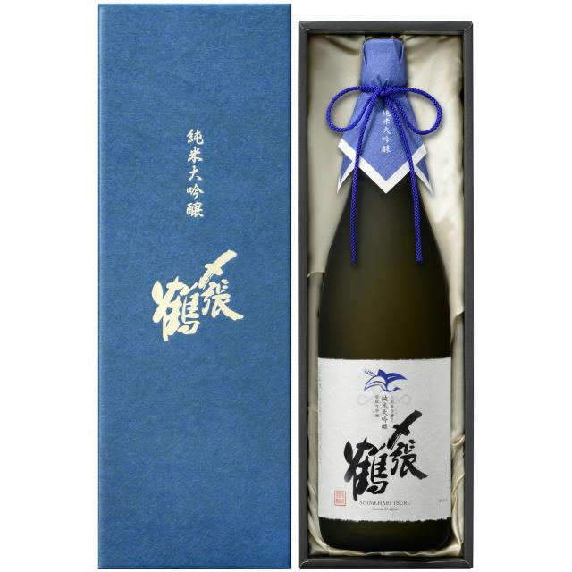 〆張鶴(しめはりつる) 純米大吟醸 BLUE LABEL 袋取り雫酒【専用化粧箱付】 ※完全受注生産品です。お電話にてお問い合わせください。