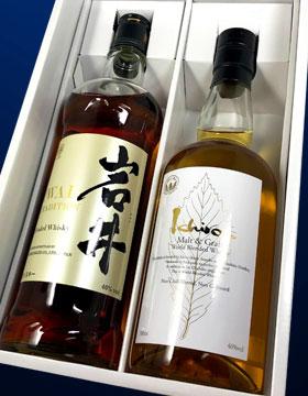 【ウイスキーギフトセット】岩井トラディション&イチローズモルト ホワイトラベル(ギフトボックス入り)