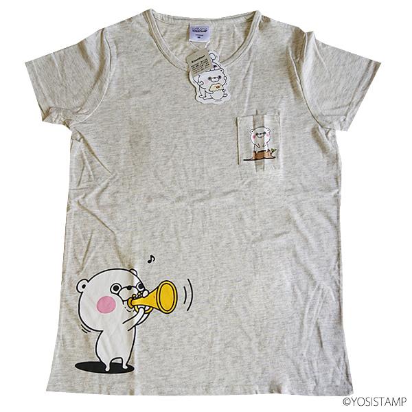 半袖プリントワイドTシャツ 9283-4715 ポッケ付き