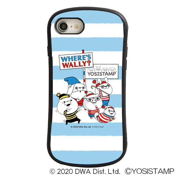 ヨッシースタンプ×ウォーリーをさがせ! i select iPhone SE(第2世代)/8/7/6s/6対応ケース ブルー