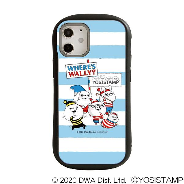 ヨッシースタンプ×ウォーリーをさがせ! i select iPhone 12 mini 対応ケース ブルー