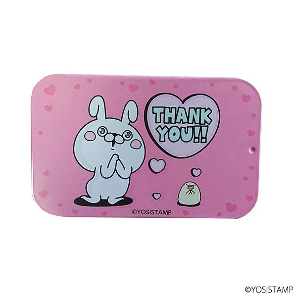 ヨッシースタンプスライド缶 THANK YOU(ストロベリー味)