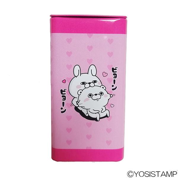 ヨッシースタンプ 缶ケース ピンク