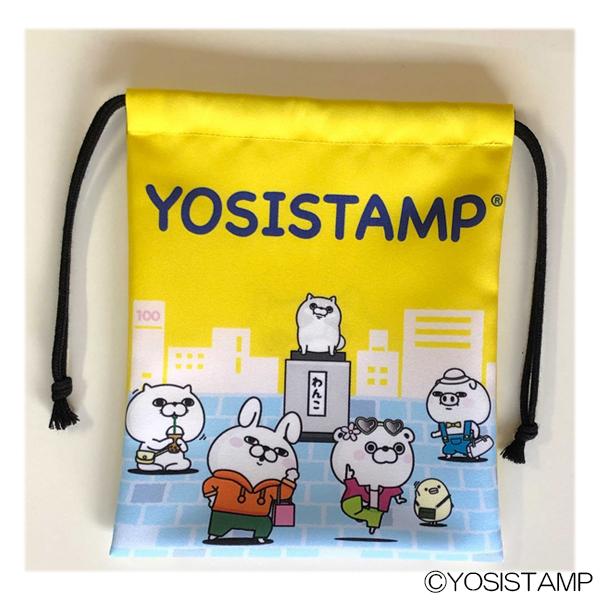 YOSISTAMP巾着 イベント限定 渋谷わんこ