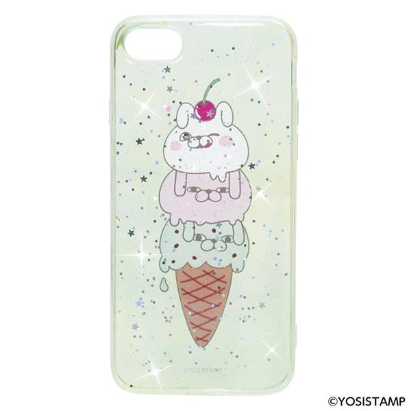 ★TPU製キラキラスマホカバー/アイスクリーム