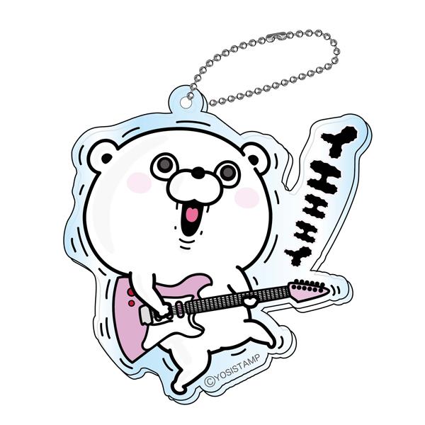 アクリルキーチェーン くまD ギター 4589874873881