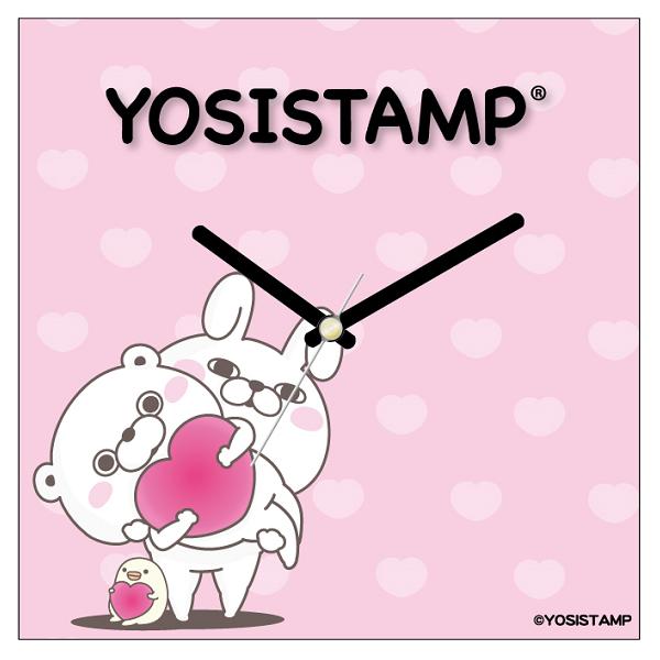 【受注生産品】ヨッシースタンプ ファブリック壁掛け時計 ハート