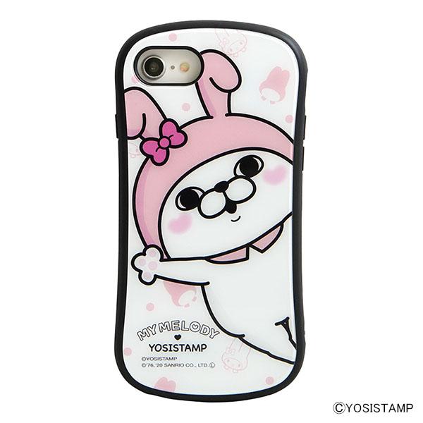 i select iPhone SE(第2世代)/8/7/6s/6 対応ハイブリッドガラスケース A.うさぎさん