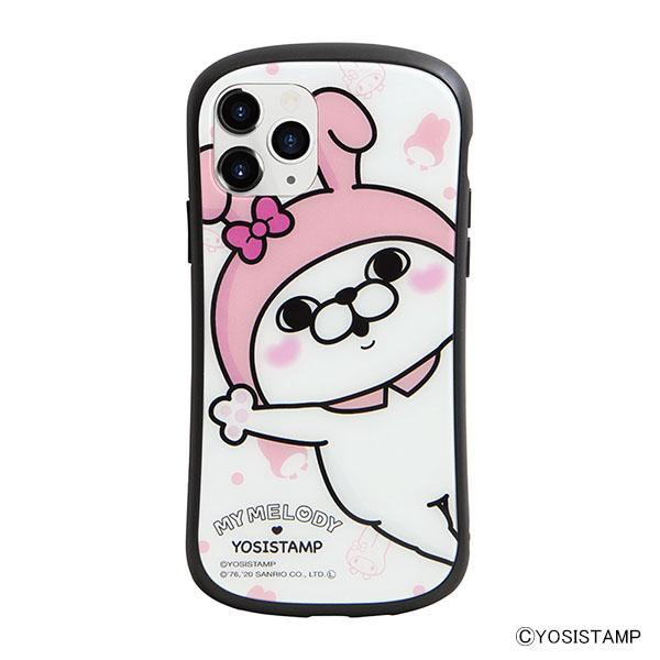 i select iPhone 11 Pro 対応ハイブリッドガラスケース A.うさぎさん