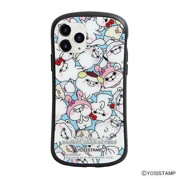 i select iPhone 11 Pro 対応ハイブリッドガラスケース C.ぎっしり