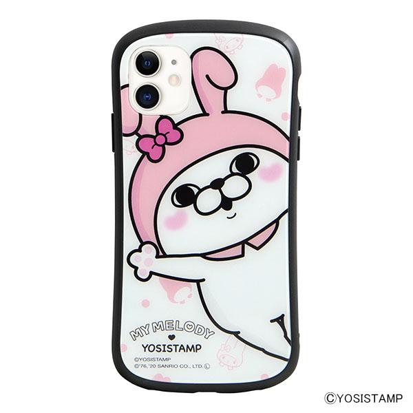i select iPhone 11/XR 対応ハイブリッドガラスケース A.うさぎさん