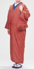 【着物生活応援特価】一部式美容和装コート『栗茶』(きもの衿)ML・L