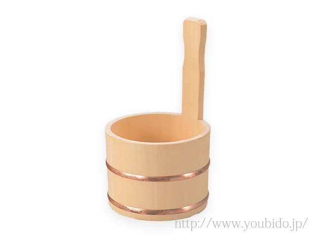 ヒバ片手湯桶