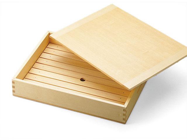ネタ箱 中 目皿・木製蓋付