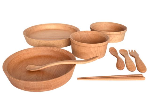 木製子供食器9点セット