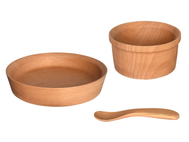 木製子供食器3点セット