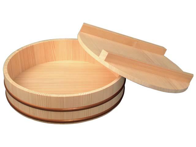 天然木寿司飯台蓋付