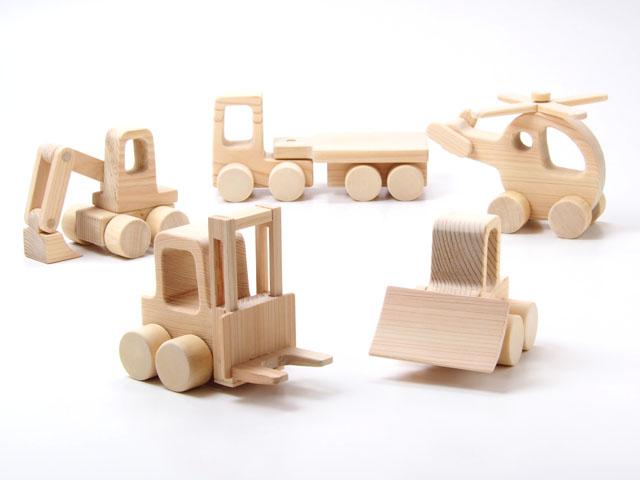 木の玩具はたらくのりもの