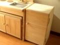 ままごとキッチン冷蔵庫風本棚