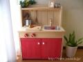 木製ままごとキッチンマムキッチンアップル(赤)