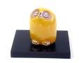 七彩のふくろう黄釉