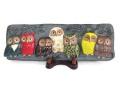 福徳・七匹の福郎陶板飾り
