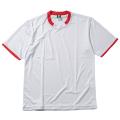 【メール便可】半袖ゲームシャツ(ホワイト×レッド)