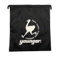 【メール便可】youngerシューズ袋(ブラック)