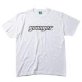 【メール便可】ロゴTシャツA(ホワイト×ブラック)