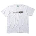 【メール便可】ロゴTシャツB(ホワイト×ブラック)